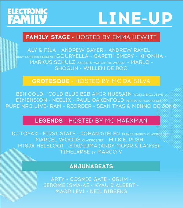 line up electronic family