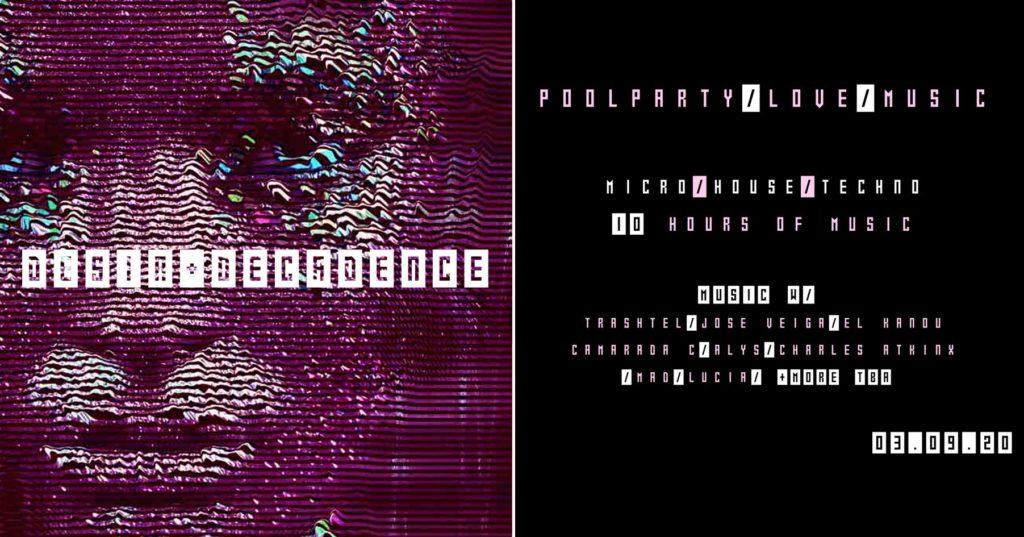 Désire et Décadence nous convient à une Pool Party Micro, House et Techno aux portes de Paris, ce jeudi 3 septembre de 14h à 2h.